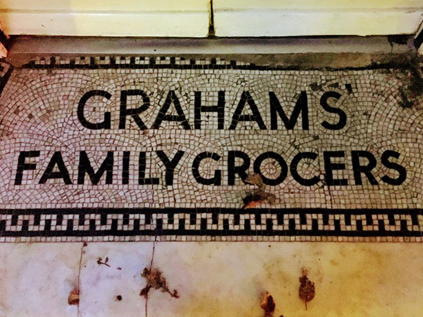 Appleby-in-Westmorland's Graham's Family Grocers entrance mosaic